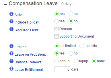 How to handle Time off in Lieu Leave in Totem – empowered HR